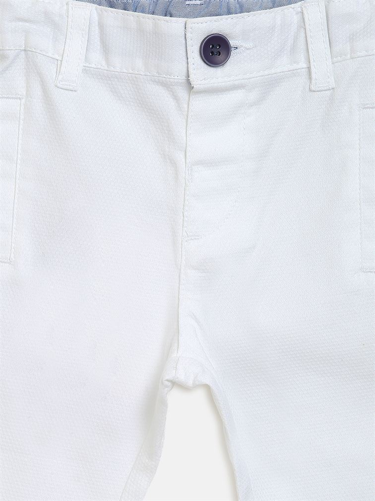 Chicco Boys White Casual Wear Trousers