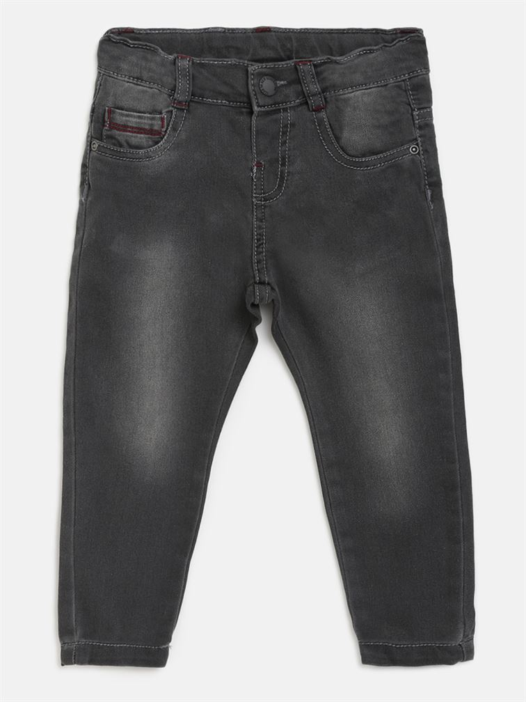 Chicco Boys Black Casual Wear Jeans