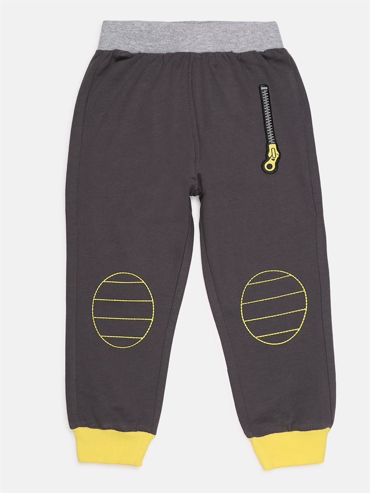 Chicco Boys Grey Casual Wear Trousers