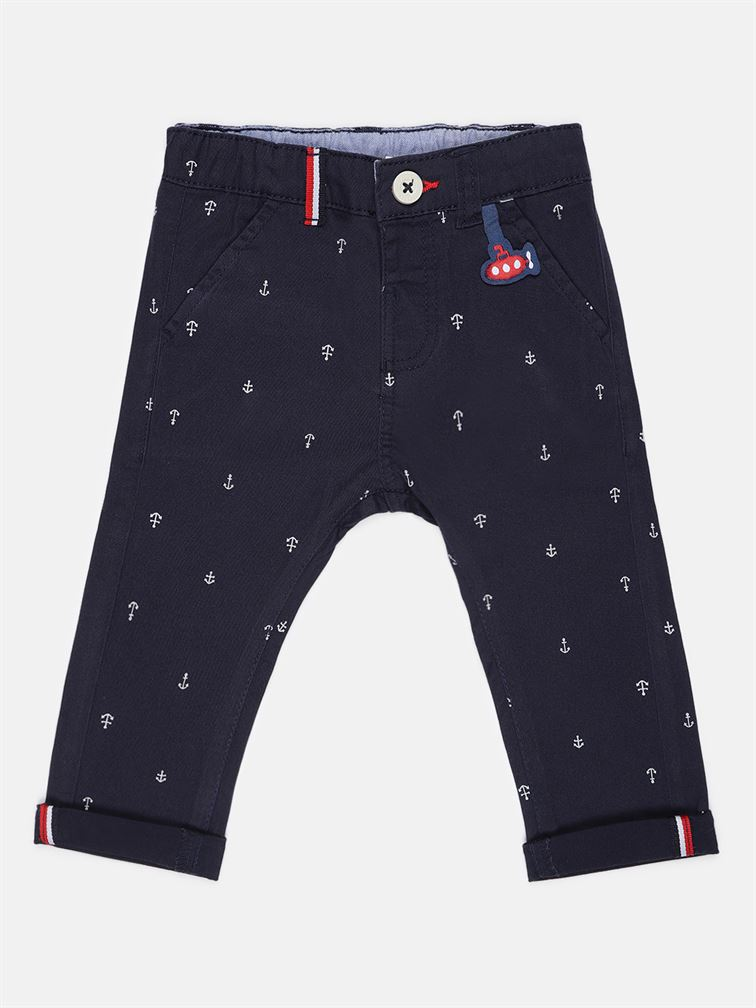 Chicco Boys Blue Casual Wear Trousers
