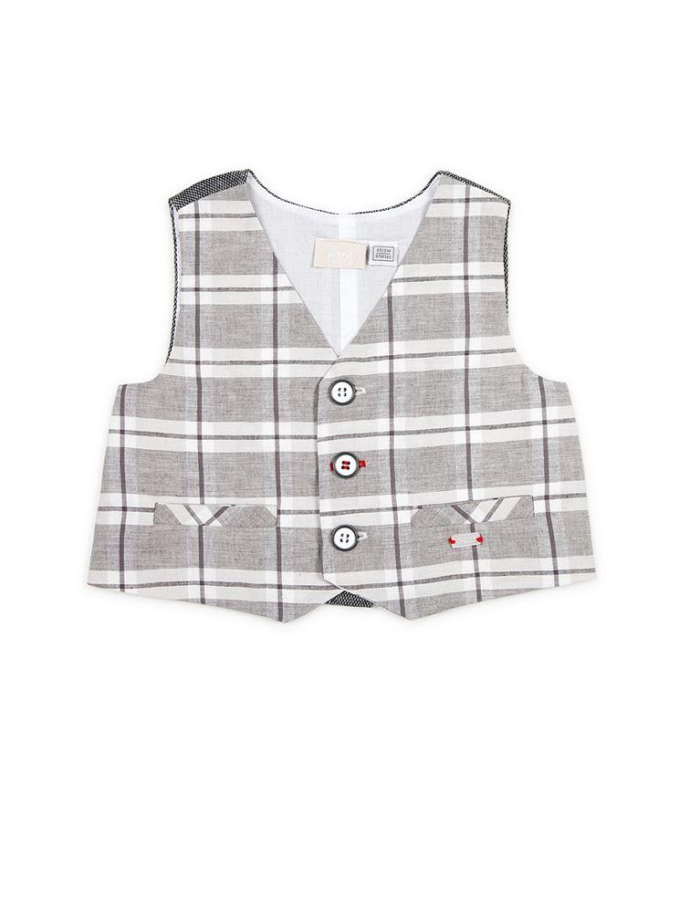Chicco Boys Grey Casual Wear Waistcoat