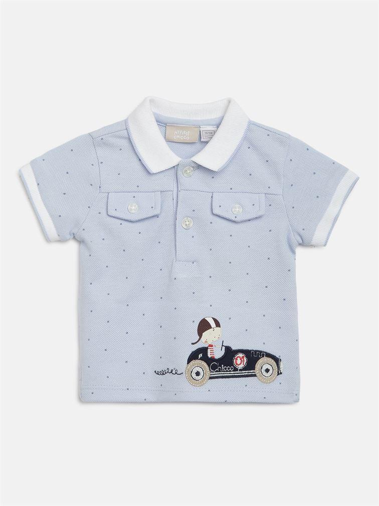 Chicco Boys Blue Casual Wear T-Shirt