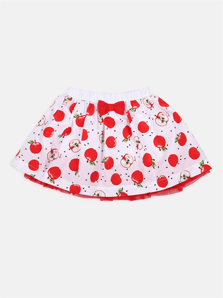 Chicco Girls Red Casual Wear Skirt