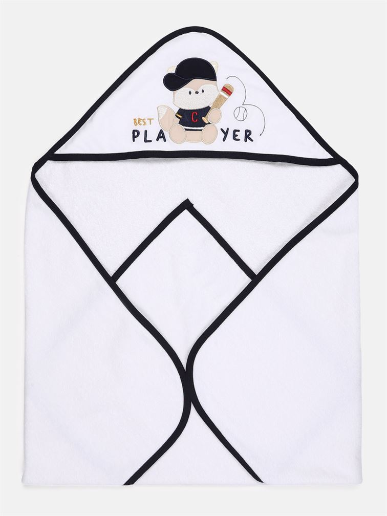 Chicco Boys White Casual Wear Towel