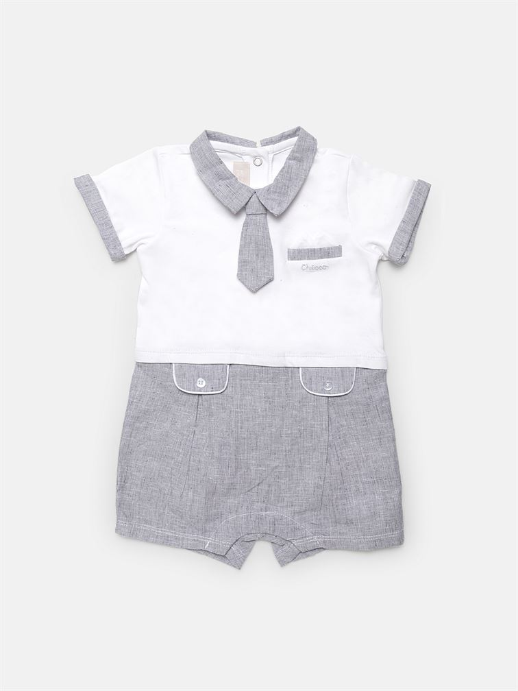 Chicco Boys Grey Casual Wear Romper