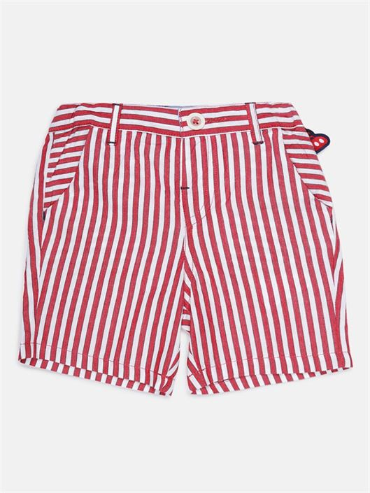 Chicco Boys Red Casual Wear Shorts