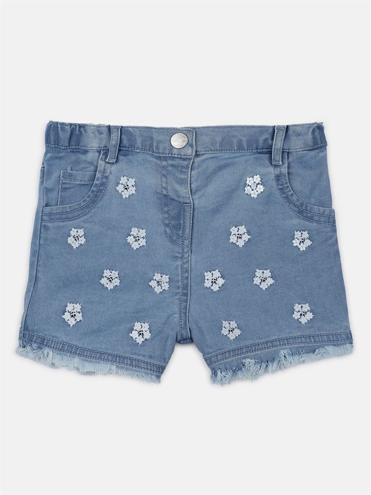 Chicco Girls Blue Casual Wear Shorts