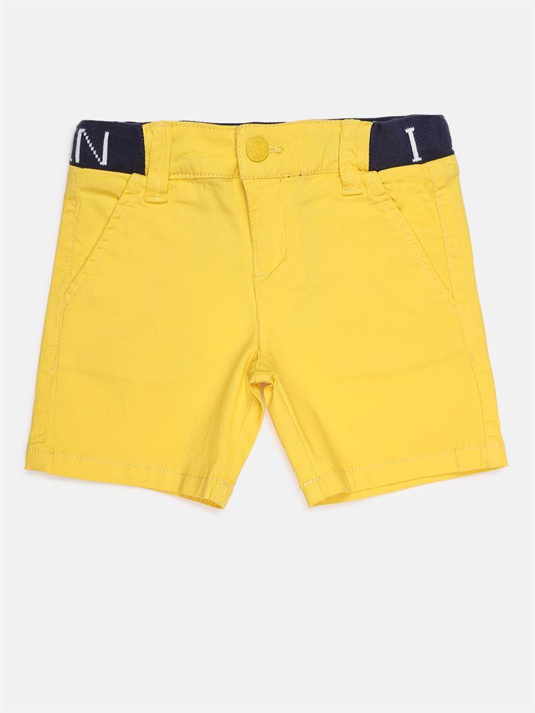 Chicco Boys Yellow Casual Wear Shorts