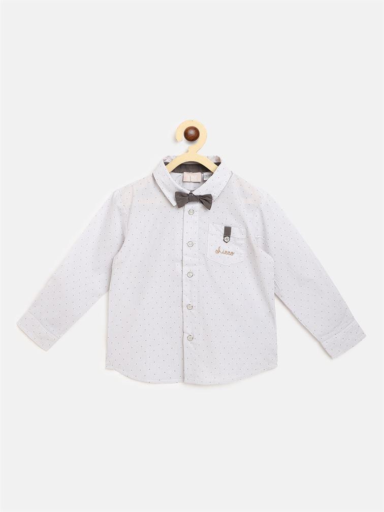 Chicco Boys Grey Casual Wear Shirt