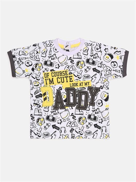 Chicco Boys Black Casual Wear T-Shirt