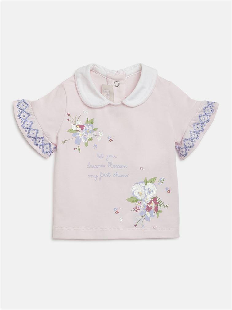 Chicco Girls Pink Casual Wear T-Shirt