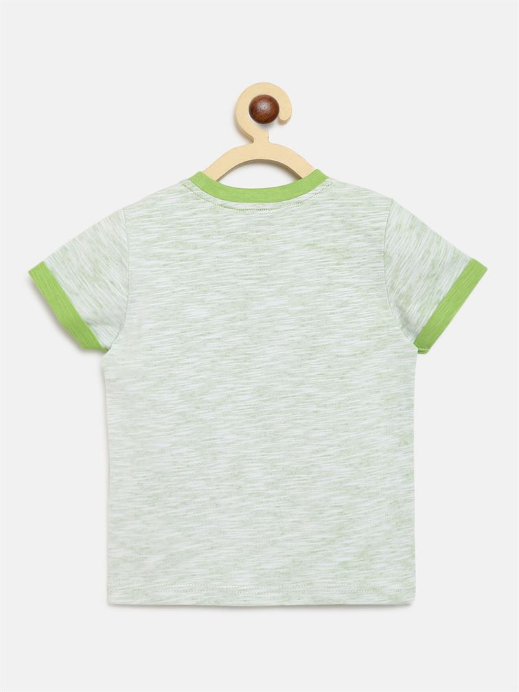 Chicco Boys Green Casual Wear T-Shirt