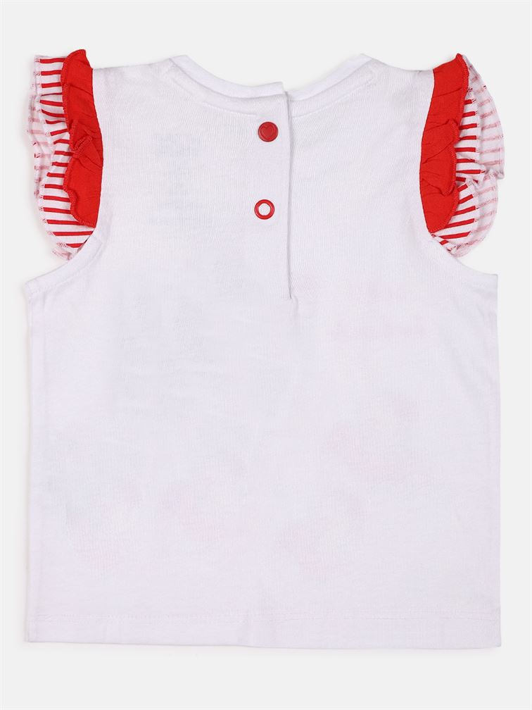 Chicco Girls Red Casual Wear Set