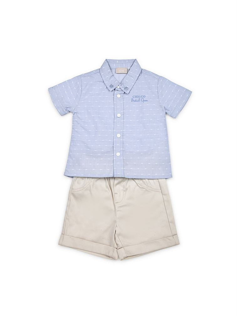 Chicco Boys White Casual Wear Set
