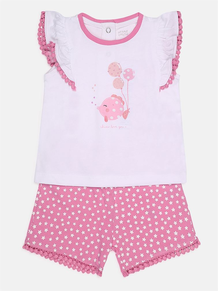 Chicco Girls Pink Casual Wear Set