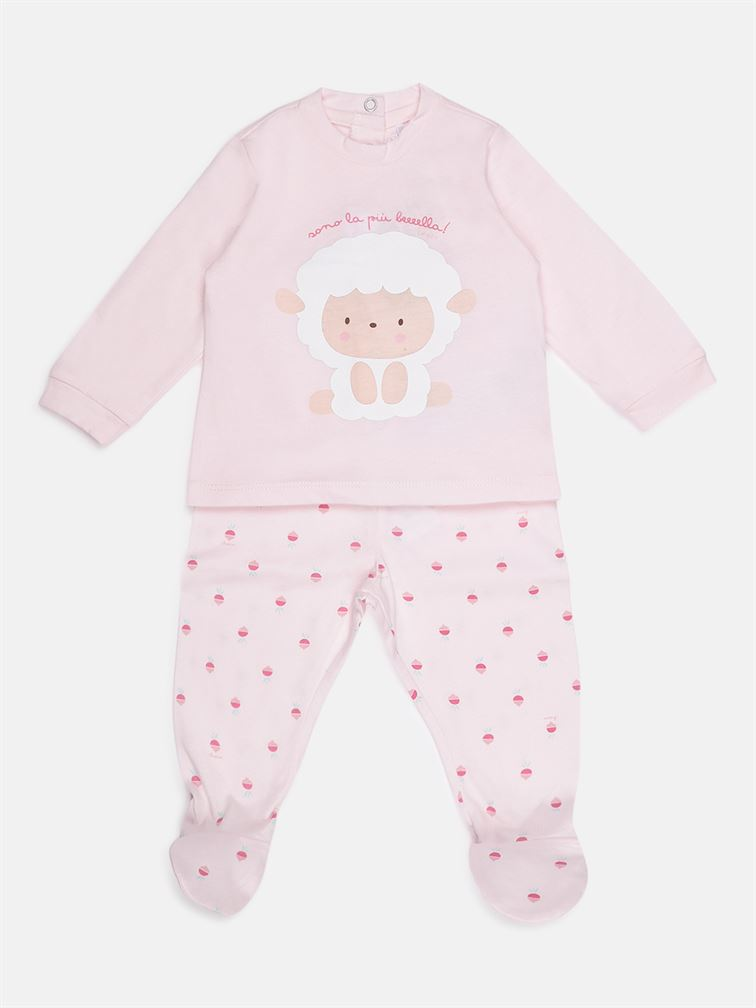 Chicco Unisex Pink Casual Wear Set