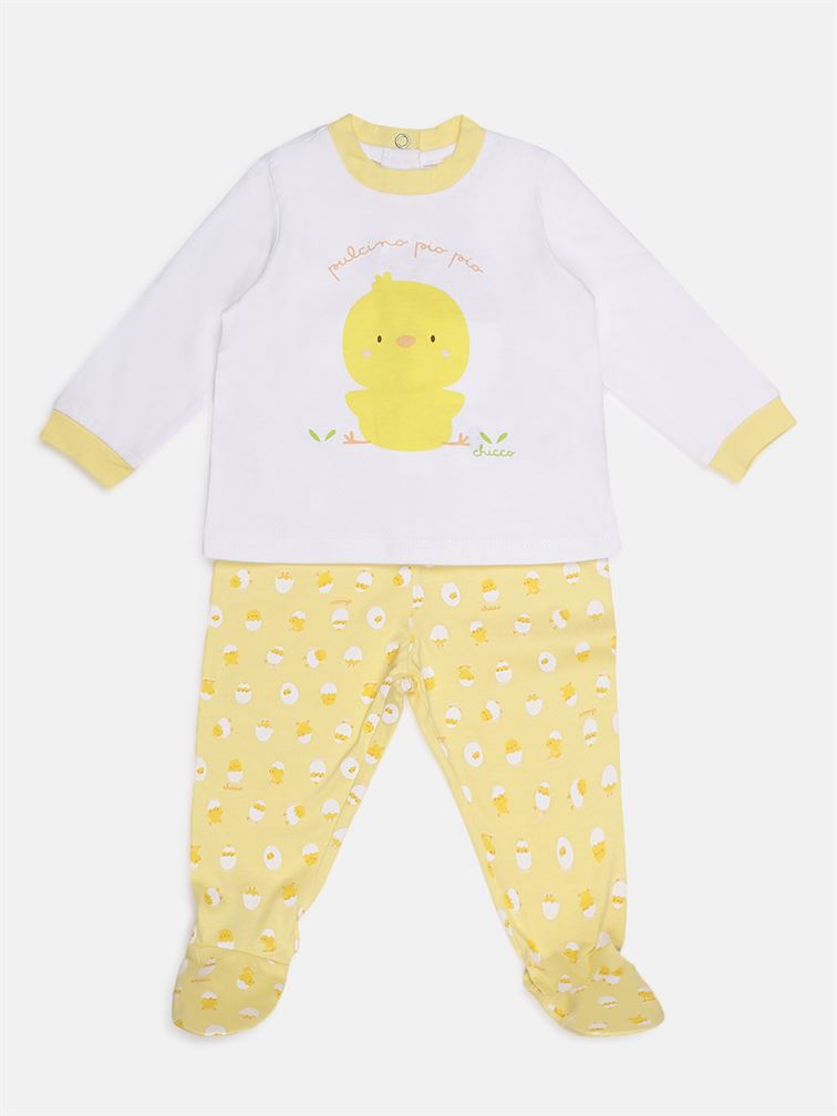 Chicco Unisex Yellow Casual Wear Set