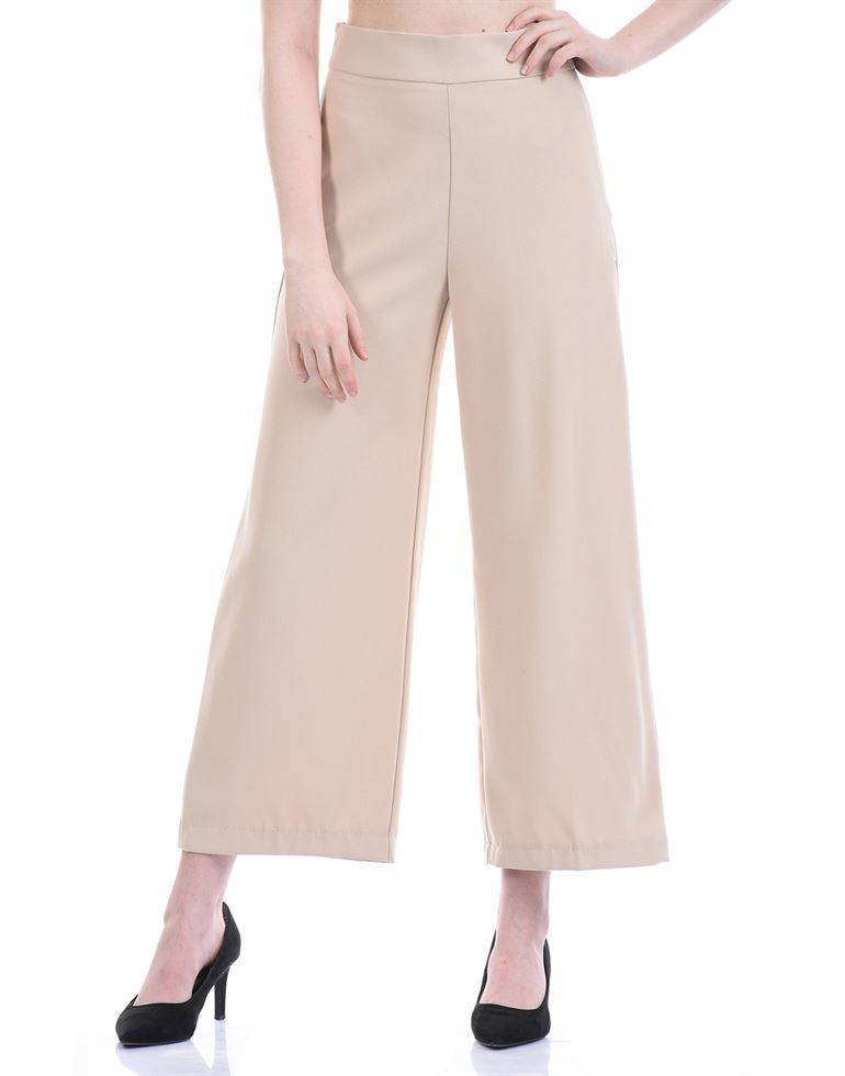 Cover Story Women Casual Wear Pink Flared Trouser