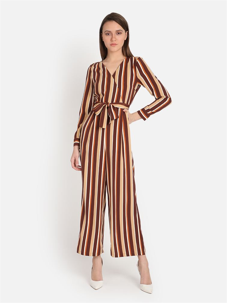 Cover Story Women's Slim Fit Casual Wear Jumpsuit
