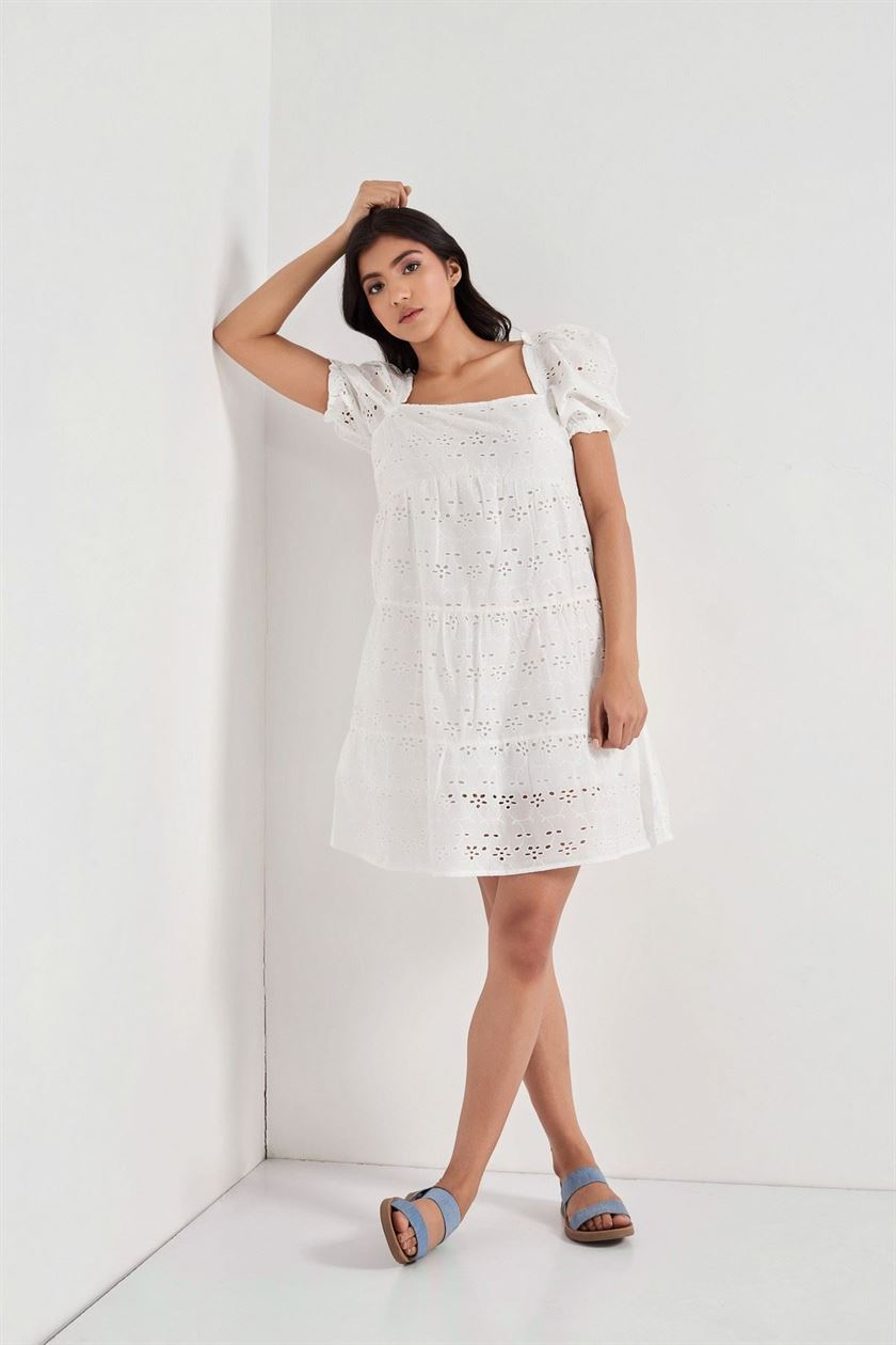Cover Story Women Casual Wear White Dress