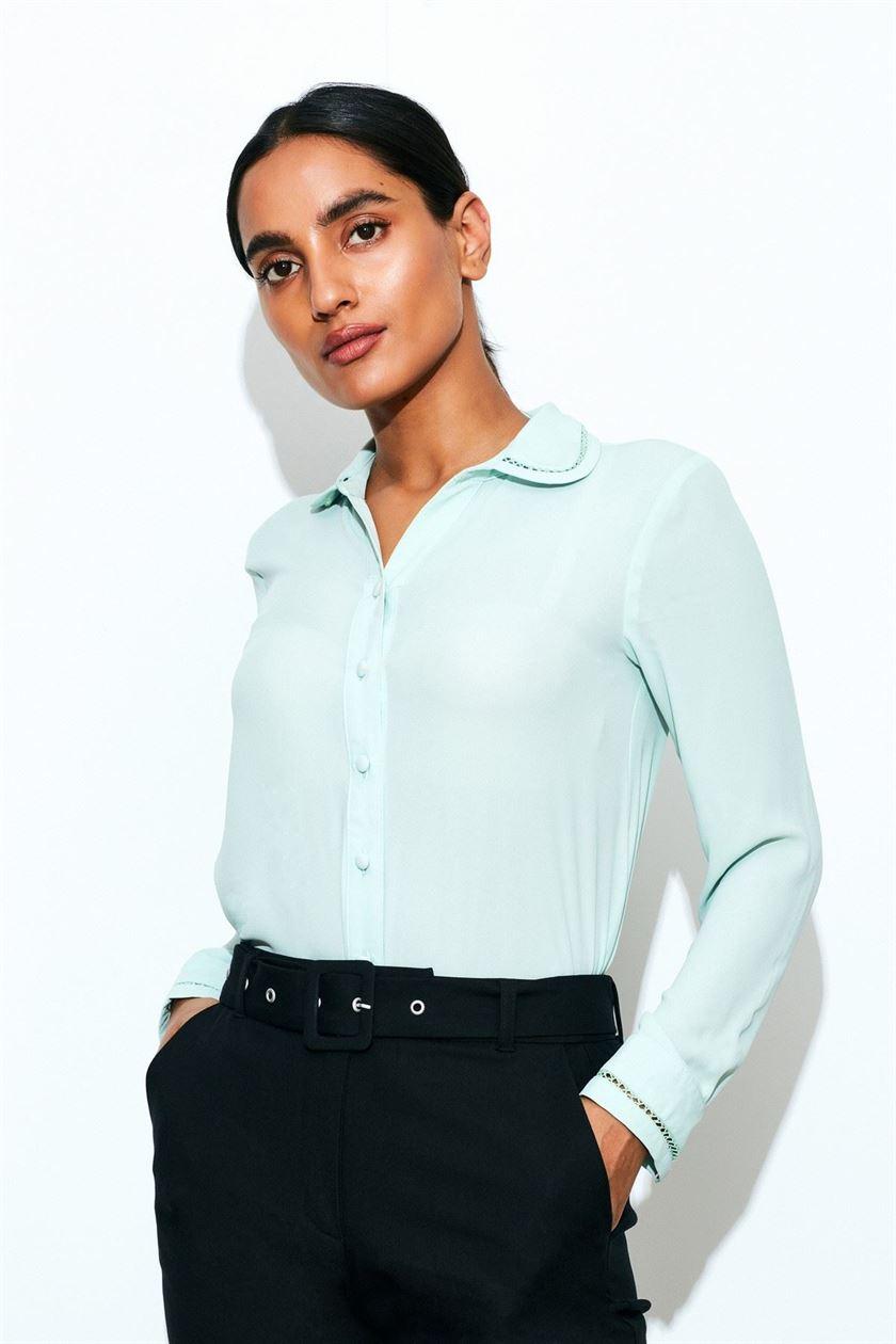 Cover Story Women Casual Wear Green Shirt