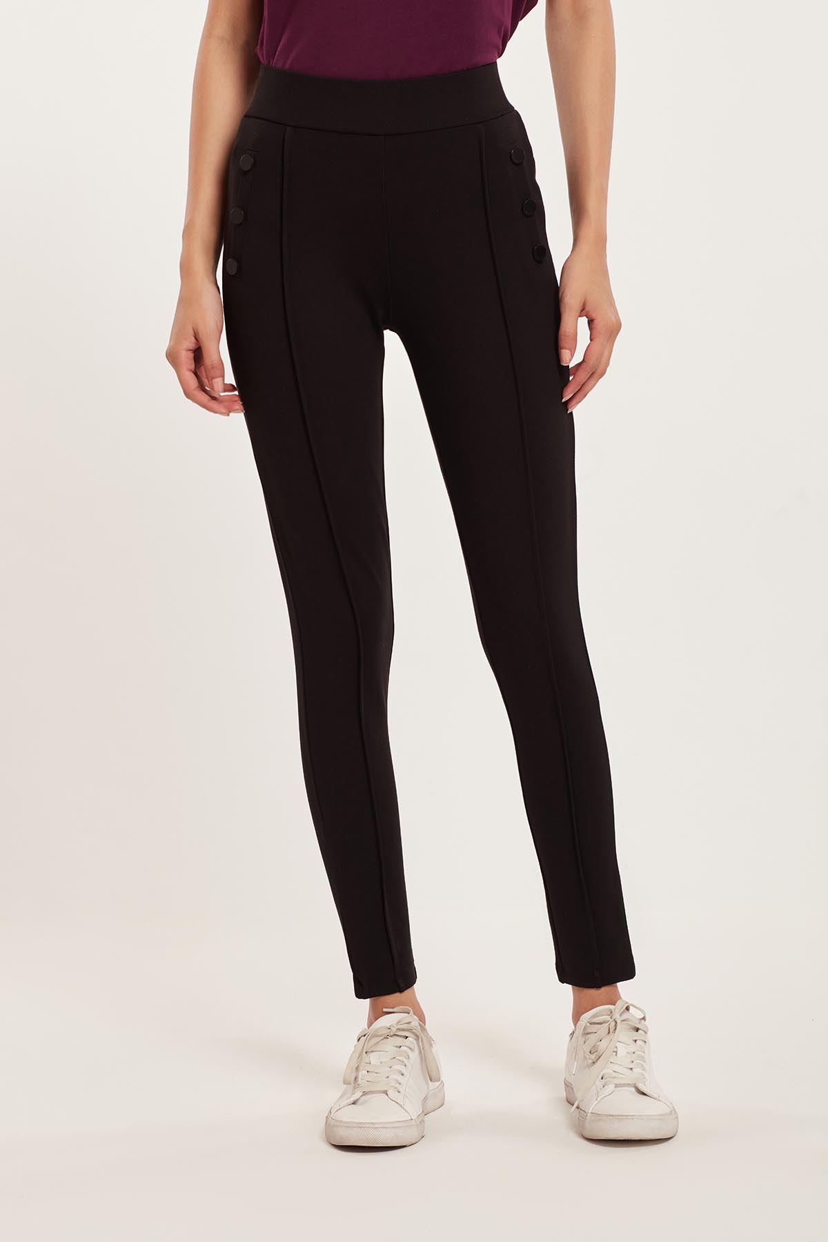 Cover Story Women Casual Wear Black Jegging
