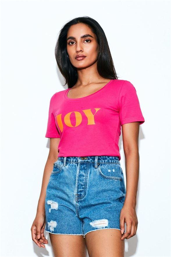 Cover Story Women Casual Wear Pink T-shirt
