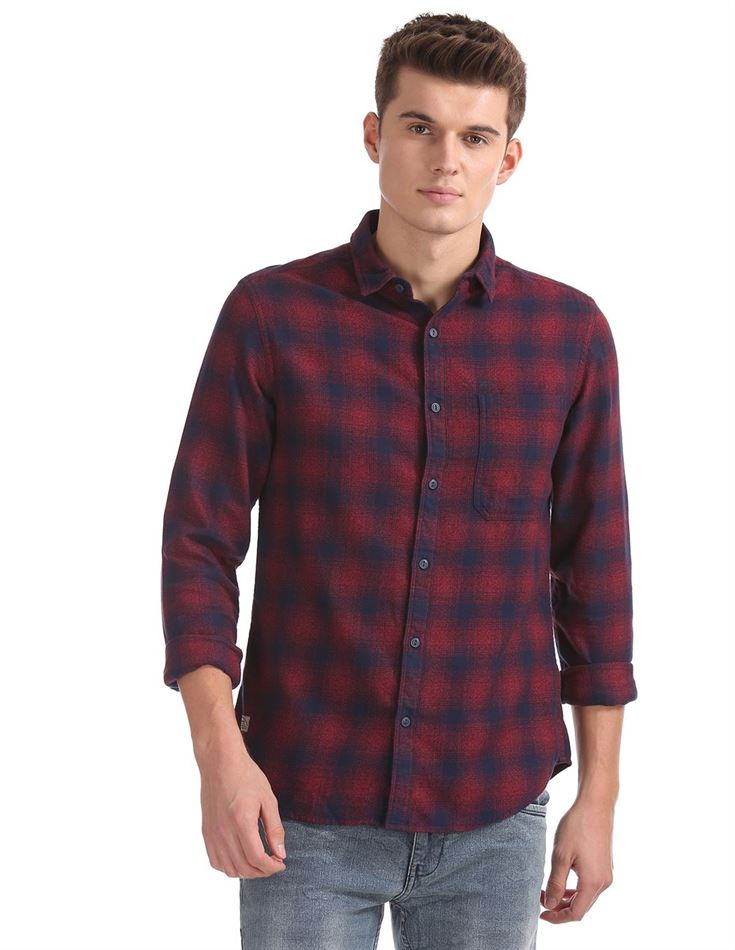Ed Hardy Men Casual Wear Checkered Shirt