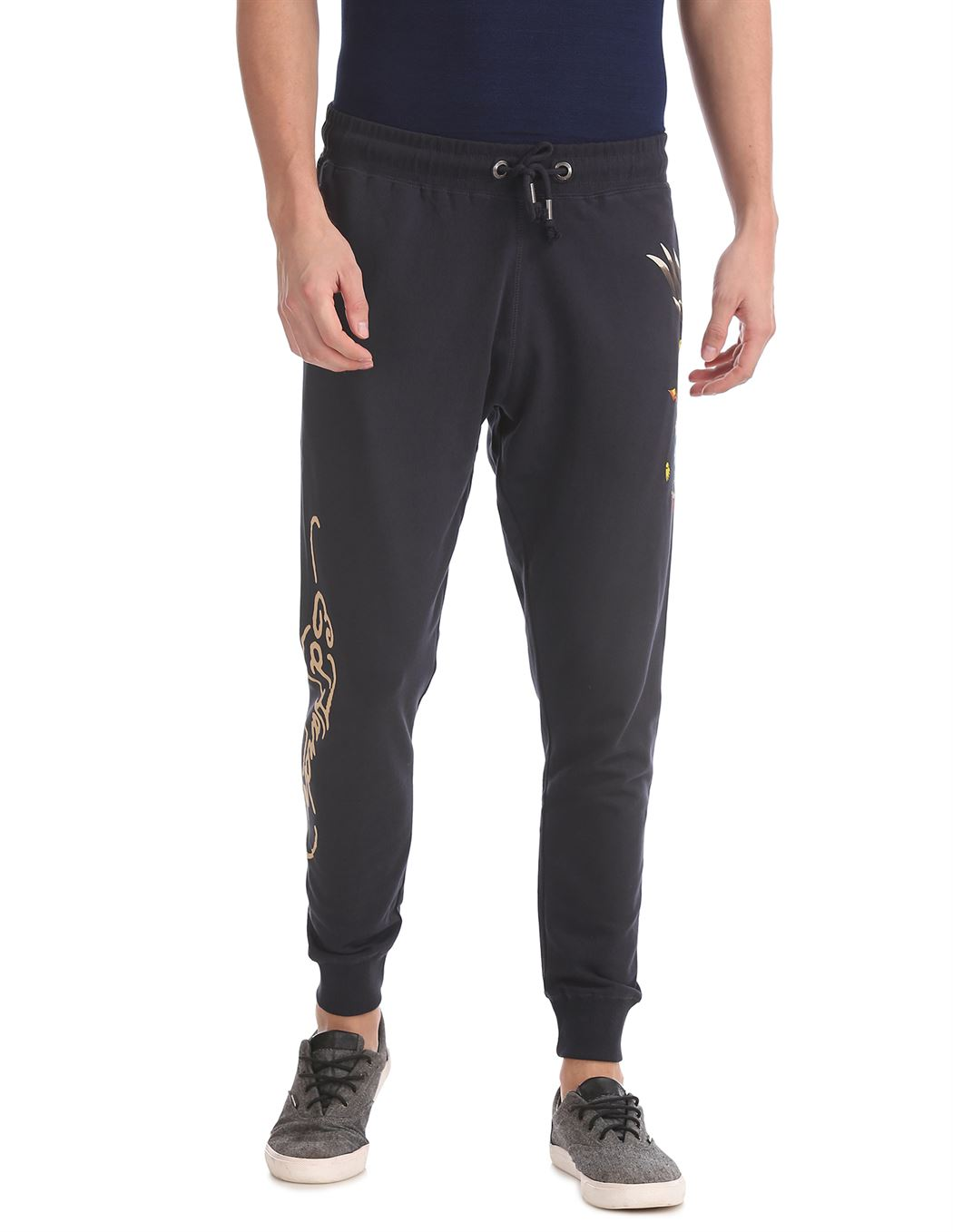 Ed Hardy Men Casual Wear Solid Track Pants
