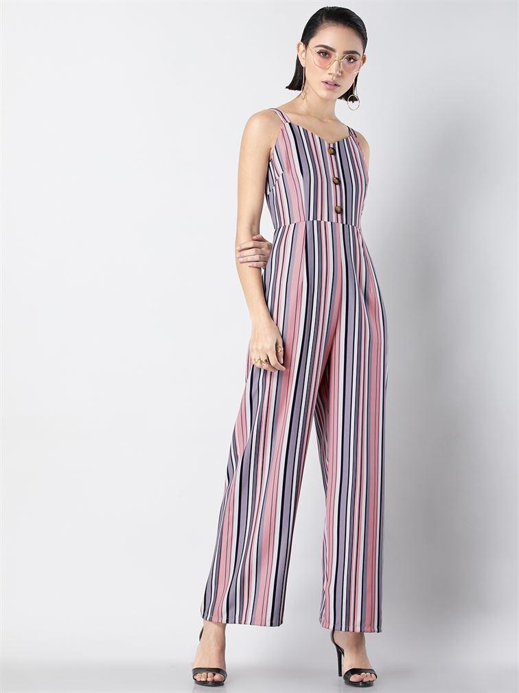 Faballey Women Casual Wear Multicolor Jumpsuit
