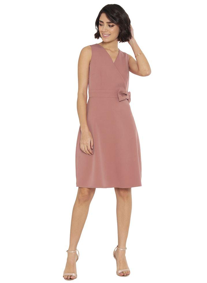 Faballey Women Casual Wear Pink Dress