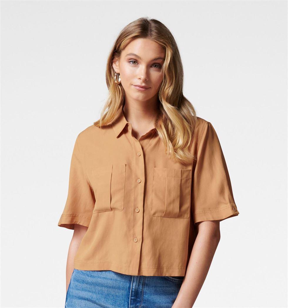 Forever New Women Casual Wear Orange Shirt