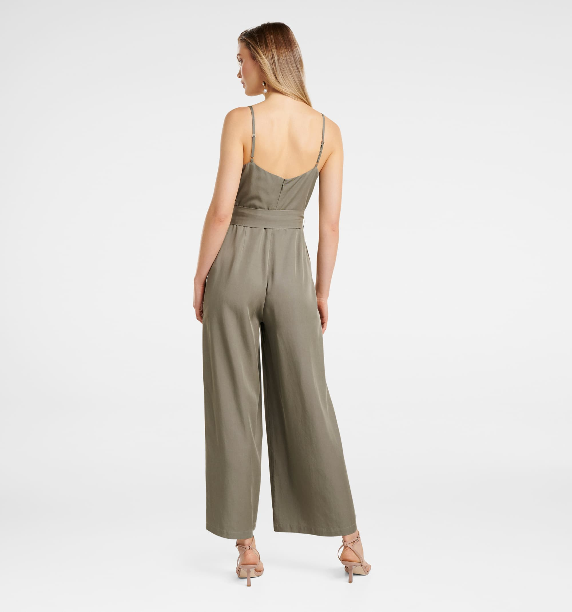 Forever New Women Party Wear Olive Jump Suit