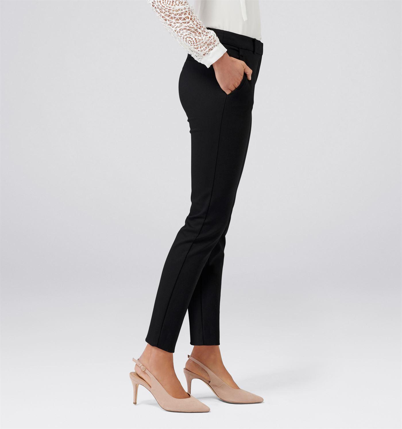 Forever New Women Casual Wear Black Trouser