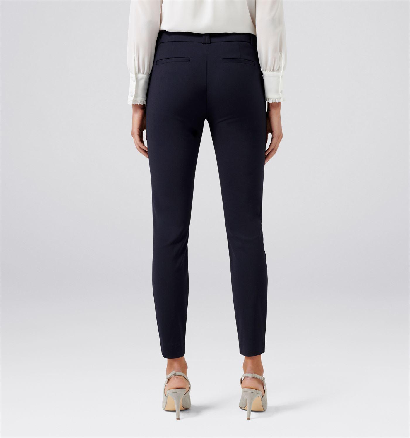 Forever New Women Casual Wear Navy Blue Trouser