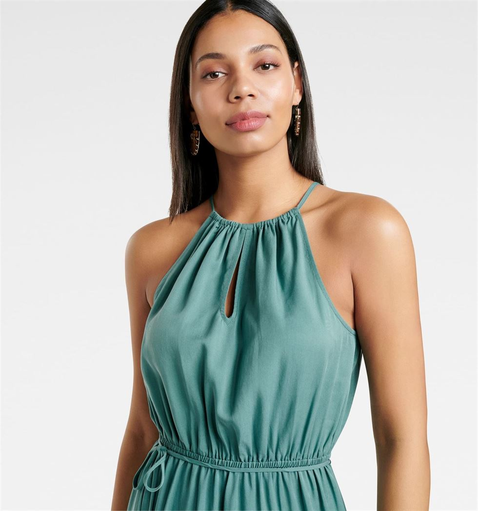 Forever New Women Party Wear Green Dress