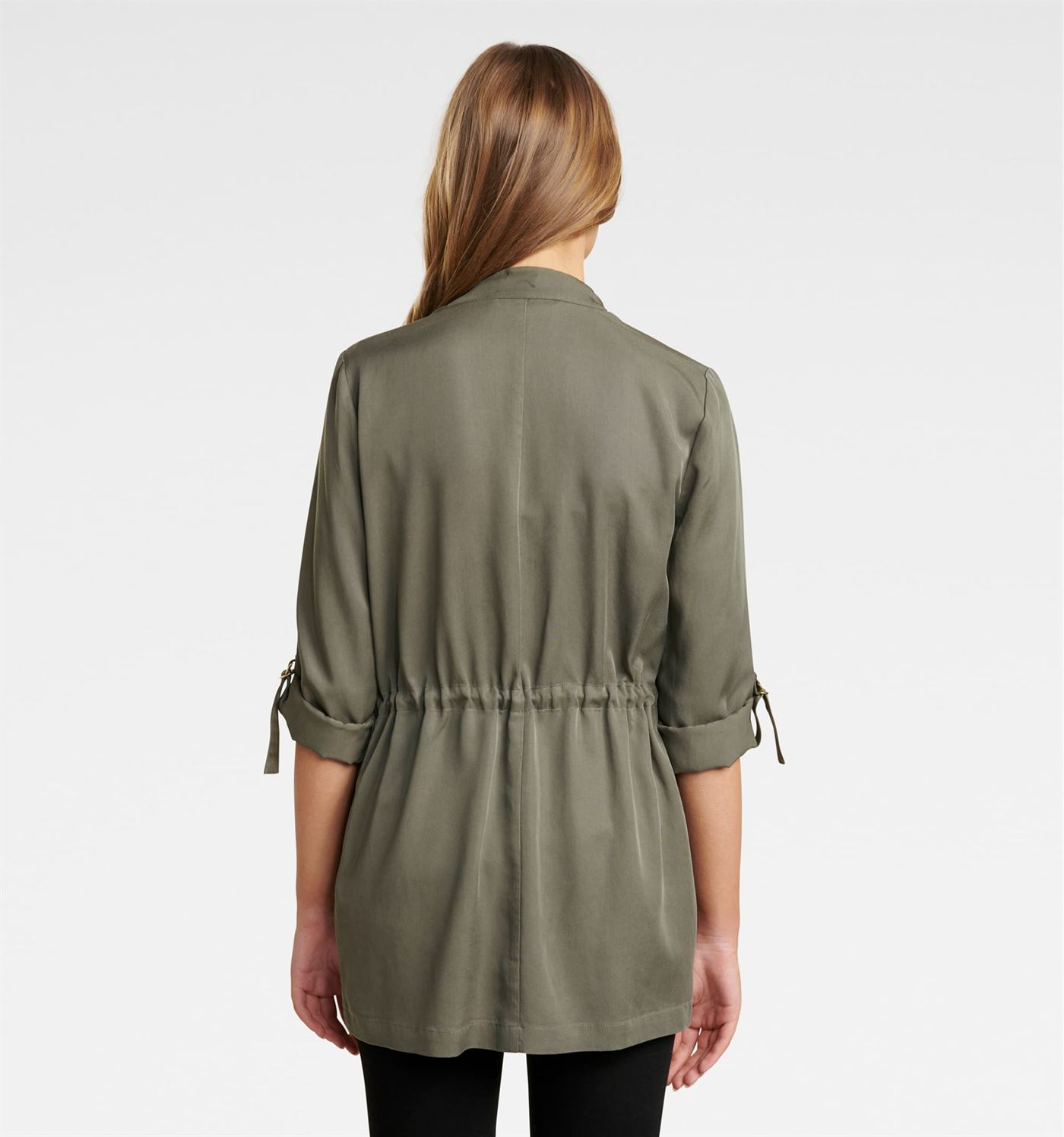 Forever New Women Casual Wear Olive Shrug