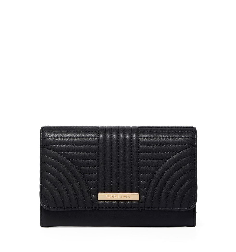 Forever New Women's Black Fold Wallet