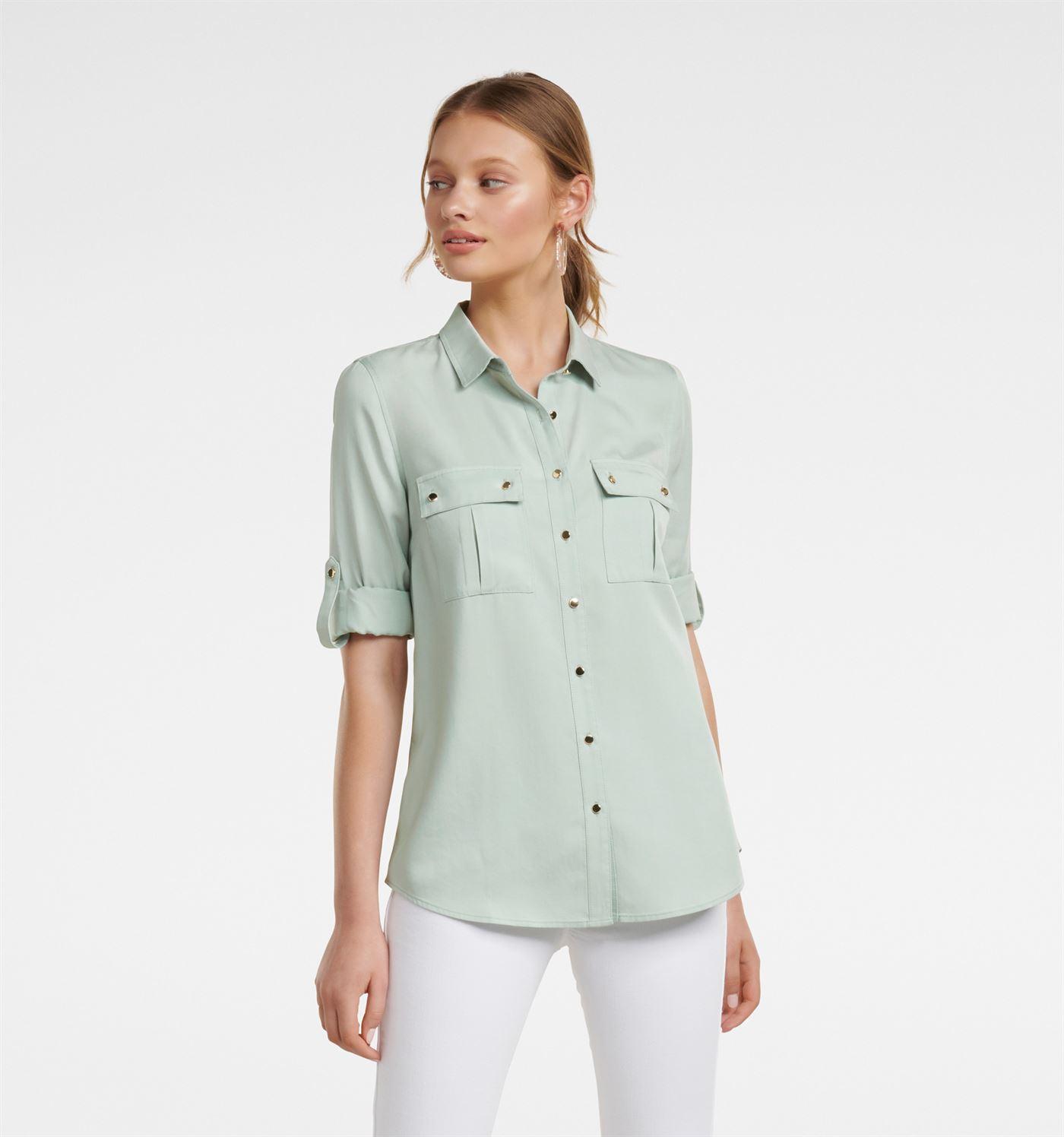 Forever New Women Casual Wear Light Green Shirt
