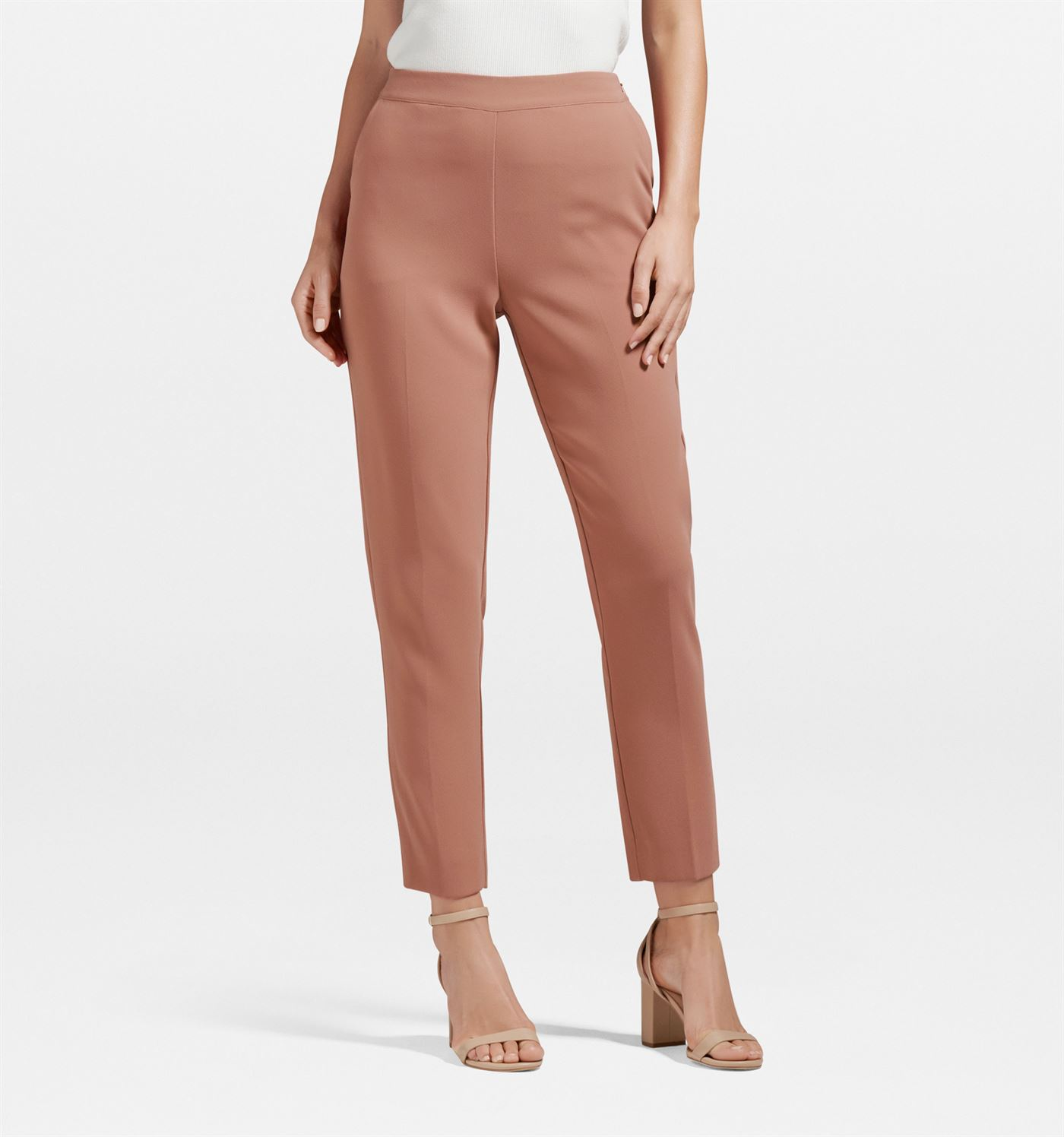 Forever New Women Casual Wear Peach Trouser
