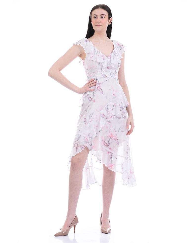 Forever New Women Party Wear White Asymmetrical Dress