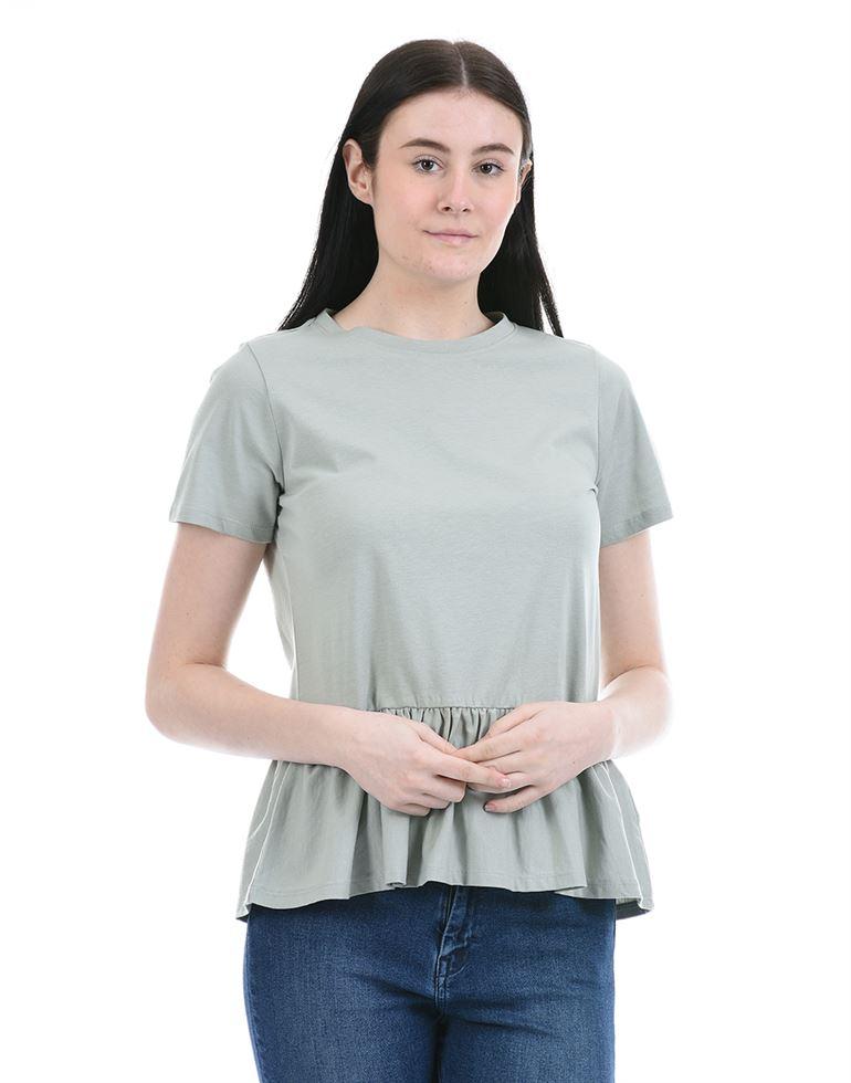 Forevernew Women Casual Wear Grey Peplum Top