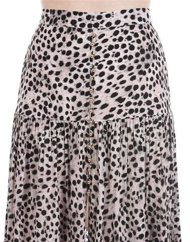 Forever New Women Casual Wear Grey Flared Skirt