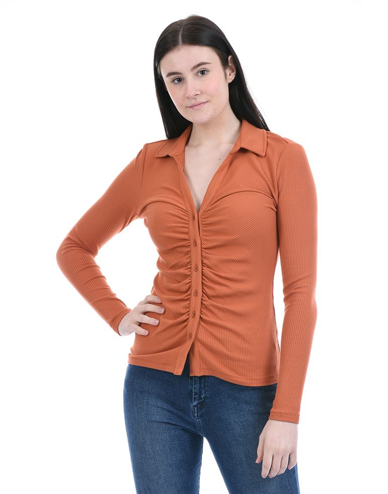 Forevernew Women Casual Wear Brown Regular Top