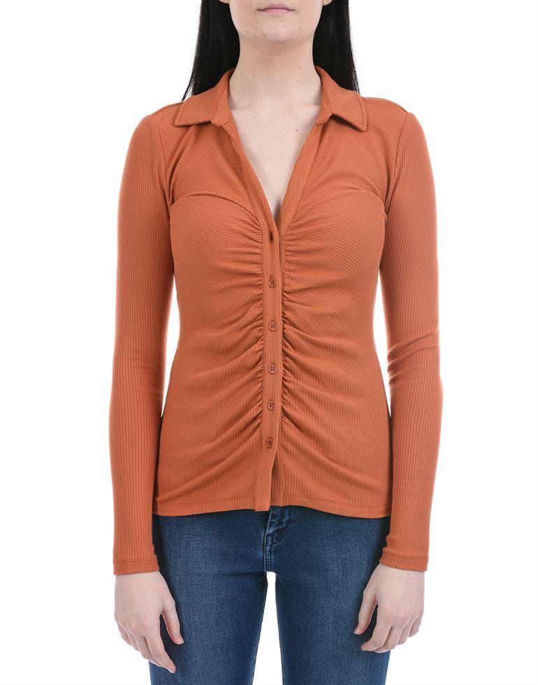 Forever New Women Casual Wear Brown Regular Top