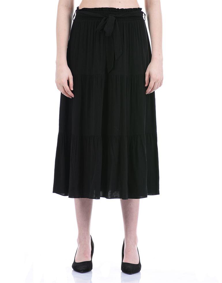 Forevernew Women Casual Wear Black Flared Skirt