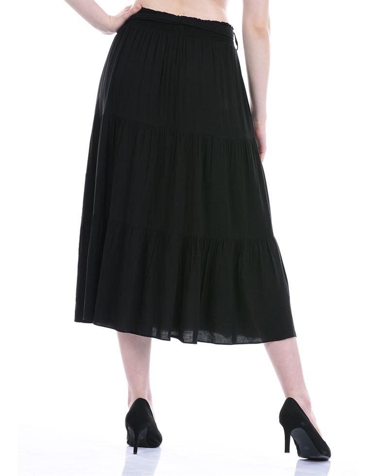 Forever New Women Casual Wear Black Flared Skirt