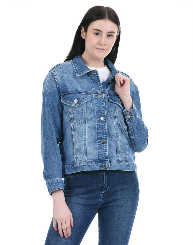 Forever New Women Casual Wear Blue Denim Jacket