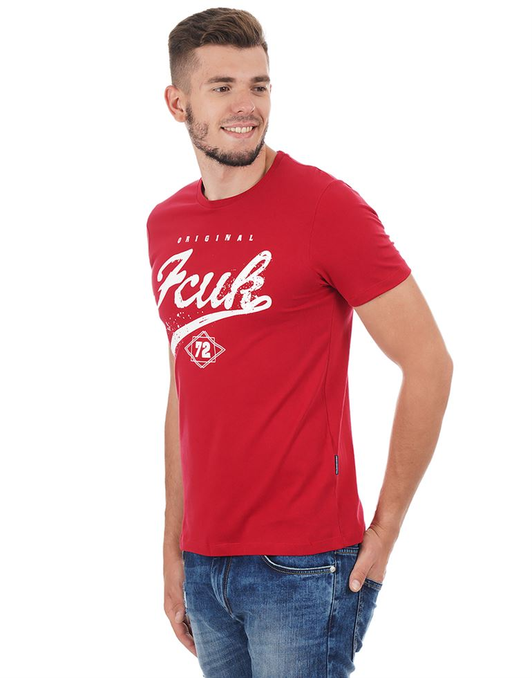 French Connection Men Casual Printed T-shirt