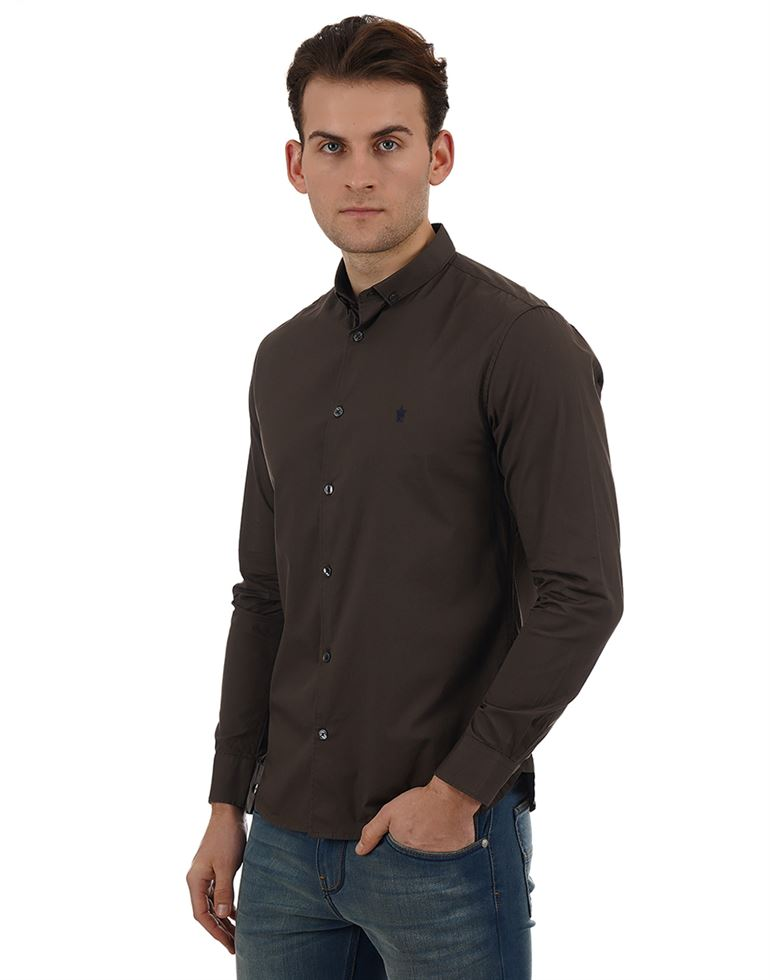 French Connection Casual Wear Solid Men Shirt